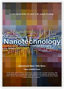 Nanotechnology Words Editable Word Template