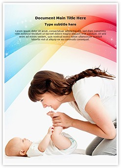 Baby Care Editable Word Template
