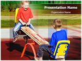 Kids on Seesaw Editable PowerPoint Template