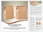 Paper Bag Editable Word Template