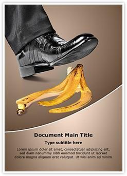Foot on banana peel Editable Word Template
