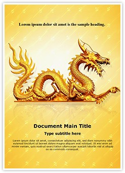Golden Dragon Editable Word Template