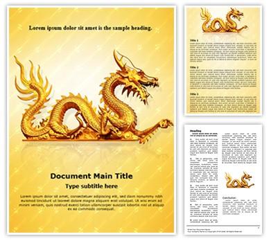 Golden Dragon Editable Word Document Template