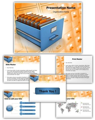 Data Management Editable PowerPoint Template