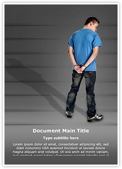 Handcuffed Man Editable Word Template