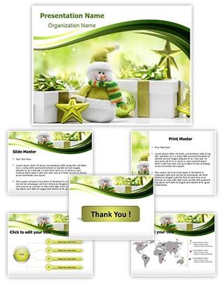 Christmas Snowman Editable PowerPoint Template