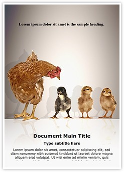 Hen with Chicks Editable Word Template