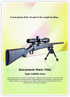 Sniper Rifle Editable Word Template