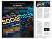 Social Media Words Template