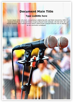 Public Speaking Editable Word Template