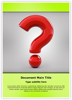 Question Mark Editable Word Template