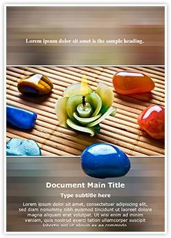 Reiki Healing Stones Editable Word Template