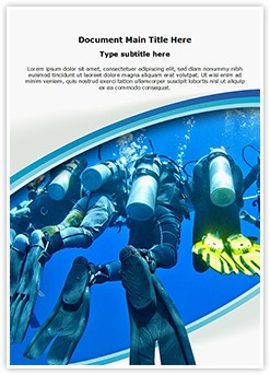 Scuba Divers Group Editable Word Template