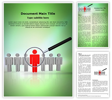 Searching Employee Editable Word Document Template