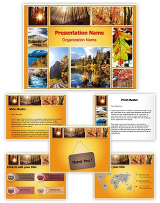 Autumn Season Collage Editable PowerPoint Template