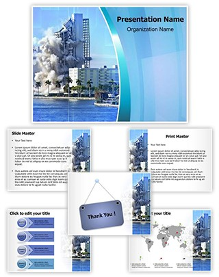 Building Collapse Editable PowerPoint Template