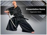 kendo Warrior Editable PowerPoint Template