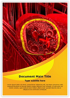 Blood Arteries and Veins Editable Word Template