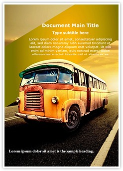 Vintage Van Editable Word Template