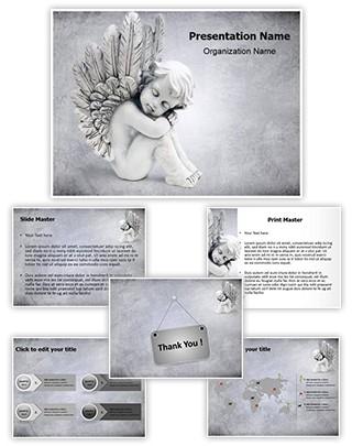 Cute Angel Editable PowerPoint Template