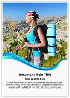 Traveling Backpack Editable Word Template