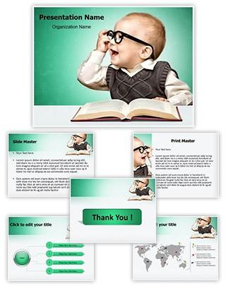 Genius Child Editable PowerPoint Template