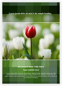 Tulip Editable Word Template