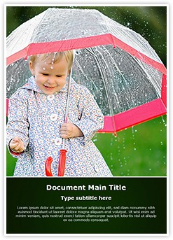 Child in rain Editable Word Template