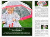Child in rain Template
