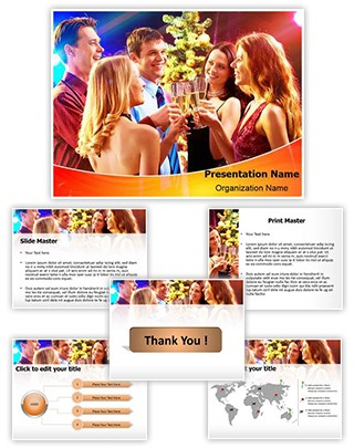 Night Drink Party Editable PowerPoint Template