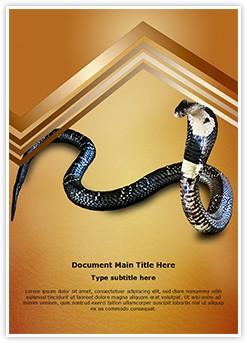 Cobra Snake Editable Word Template