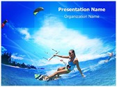 Kitesurfing Editable PowerPoint Template