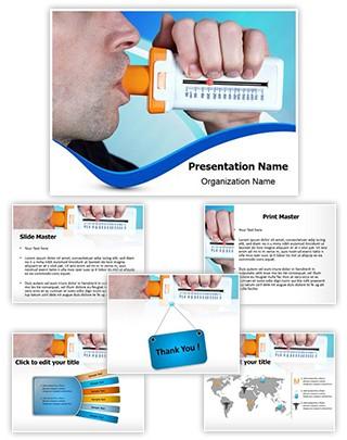 Pulmonary Function Editable PowerPoint Template