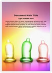 Colorful condoms Word Templates