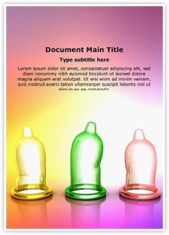 Colorful condoms Editable Word Template