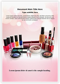 cosmetics Editable Word Template