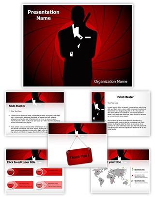 James Bond Editable PowerPoint Template