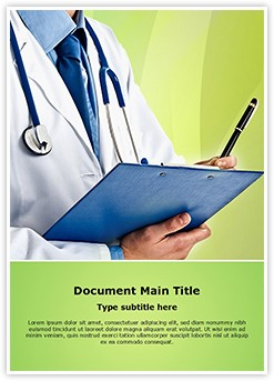 Doctor prescription Editable Word Template
