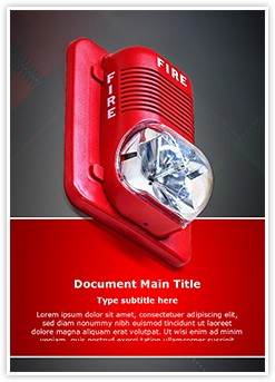 Fire Alarm Editable Word Template