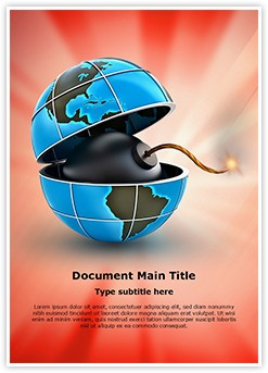 global and bomb Editable Word Template