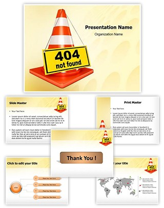 404 Error Editable PowerPoint Template