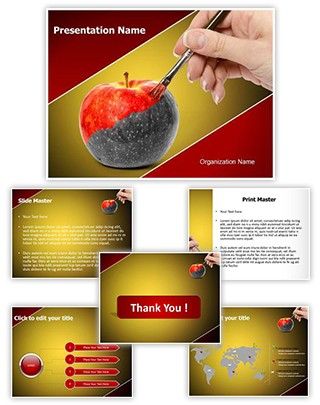Painting Apple Editable PowerPoint Template