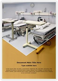 hospital room Editable Word Template
