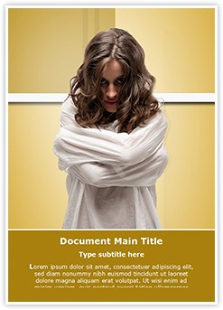 Insane woman Editable Word Template