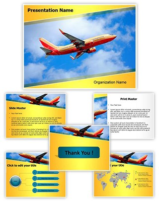 Southwest Boeing Editable PowerPoint Template