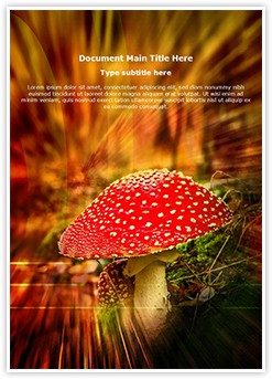 Amanita poisonous mushroom Editable Word Template