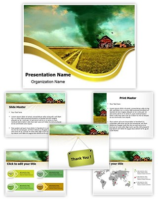 Tornado Editable PowerPoint Template