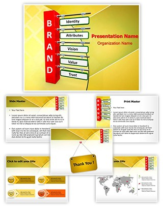 Brand Strategy Branding Editable PowerPoint Template