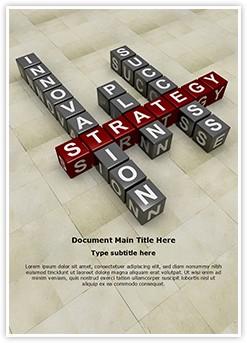 Business Crossword Editable Word Template