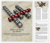Business Crossword Editable PowerPoint Template